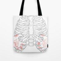 Human ribs cage Tote Bag