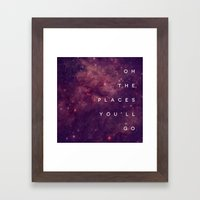 The Places You'll Go I Framed Art Print
