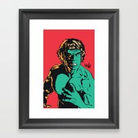 See Me Angry Framed Art Print