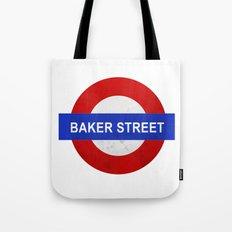 Sherlock Baker Street Print Tote Bag