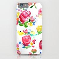 Watercolor Roses iPhone 6 Slim Case