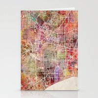 los angeles Stationery Cards featuring Los angeles by MapMapMaps.Watercolors