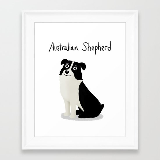Australian Shepherd - Cute Dog Series Framed Art Print