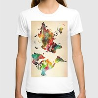A Painted World Womens Fitted Tee White SMALL