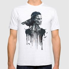 Zombie and Crow Mens Fitted Tee Ash Grey SMALL