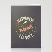 Happiness is a Warm Blanket Stationery Cards
