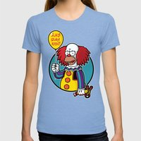 Krustywise The Clown Womens Fitted Tee Tri-Blue SMALL