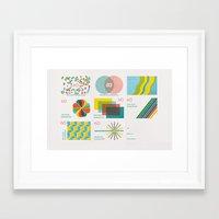 Homage To The Stamp Prin… Framed Art Print