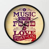 Food of Love  Wall Clock