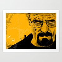 breaking bad Art Prints featuring Breaking Bad by The Art Warriors