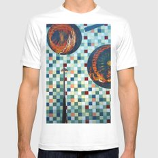 Mosaic White Mens Fitted Tee SMALL