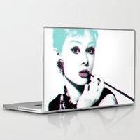 audrey hepburn Laptop & iPad Skins featuring AUDREY HEPBURN by Nuk_