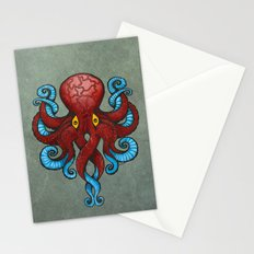 Red Dectopus Stationery Cards