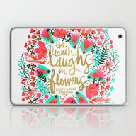 The Earth Laughs In Flow… Laptop & iPad Skin