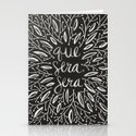 Whatever Will Be, Will Be – White Ink Stationery Cards