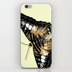 Papillon jaune et noir iPhone & iPod Skin