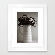 Jug of Flowers Framed Art Print