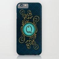 iPhone Cases featuring Monogram Q by Britta Glodde