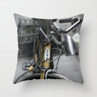 bikes 02 Throw Pillow