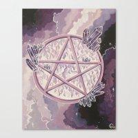 Amethyst Pentagram Canvas Print