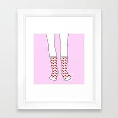 Sweetheart Socks Framed Art Print