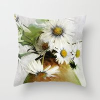 Daisies And Buttercups 2… Throw Pillow