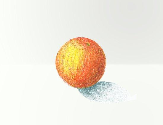 Crayon Love: Simple Orange Art Print