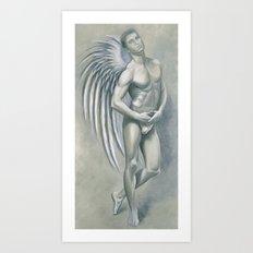 Angel Grey Art Print