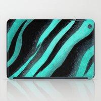 Cyan Zebra  iPad Case