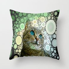 cat dreamy Throw Pillow