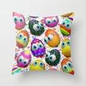 Cute Easter Eggs Cartoon 3d Pattern Throw Pillow