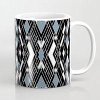 Art Deco Blue Mug