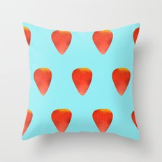 Strawberry Pattern Throw Pillow