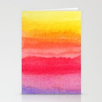 Colorful Watercolor Brus… Stationery Cards
