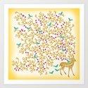 Deer Beautiful Burden Art Print