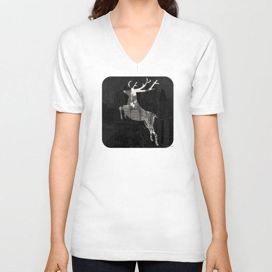 Deer City Collage 1 V-neck T-shirt
