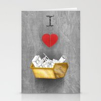 i heart skips Stationery Cards
