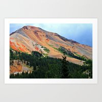 Red Mountain On The Mill… Art Print