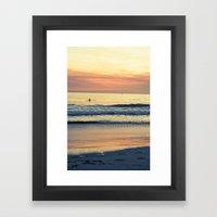 Orange Skies Framed Art Print