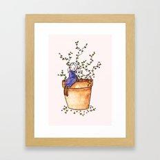 Tiny girl  Framed Art Print