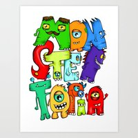 Monster Topia Art Print