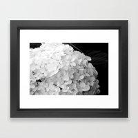 White Flowers No.2 Framed Art Print