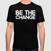 Be the Change Mens Fitted Tee Black SMALL