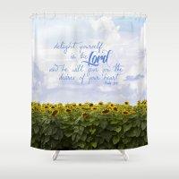 Sunflower Delight - Psal… Shower Curtain