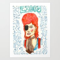 Ziggy Stardust. Art Print