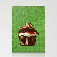 Strawberry Cake Stationery Cards