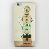 Tower of Cameras iPhone & iPod Skin