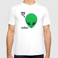 A For Alien Mens Fitted Tee White SMALL