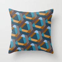 Contrasts in the city Throw Pillow