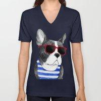 Frenchie Summer Style Unisex V-Neck